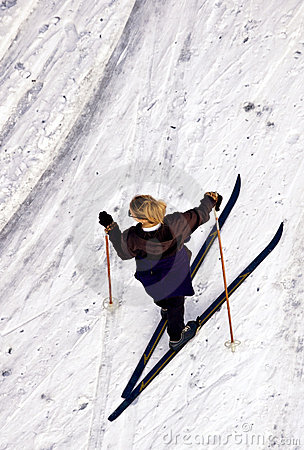 Female Cross Country Skier from Above