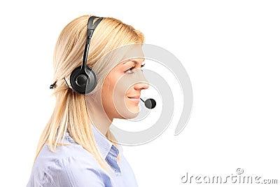 Female customer service operator