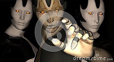Female cyborg points