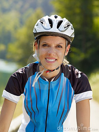 Female cyclist