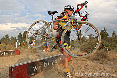 Female Cyclocross Racer Editorial Image