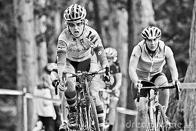 Female Cycloross Racers in an event Editorial Photo