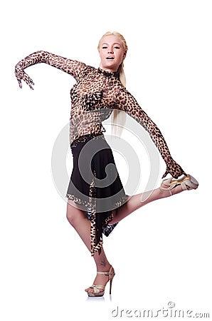 Female dancer dancing