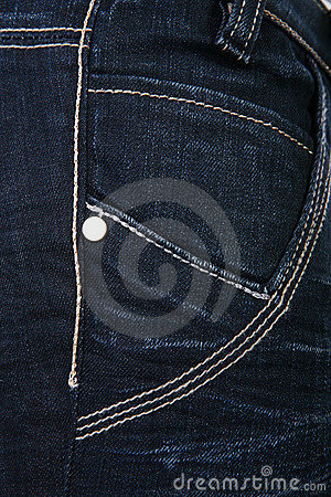 Female denim detail