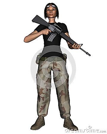 Female Desert Soldier