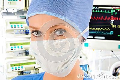 Female doctor in ICU
