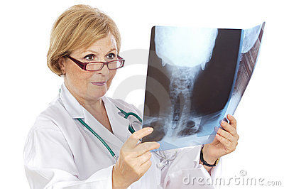 Female doctor radiologist