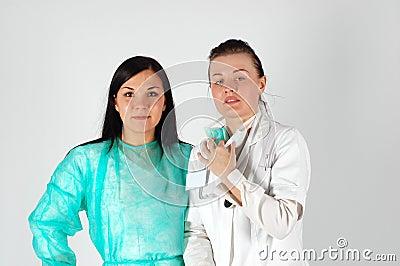 Female doctors team