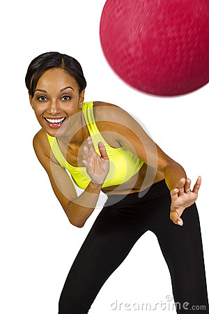 Female dodgeball player