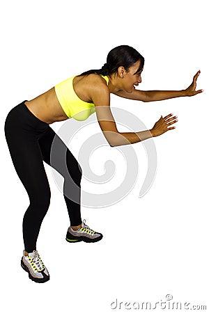 Female dodgeball player