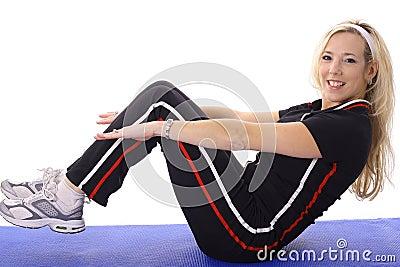 Female doing pilates