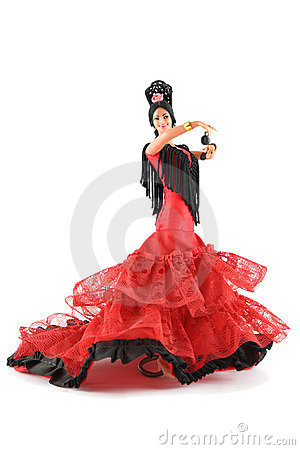 Free Female Doll From Spain Dancing Stock Image - 2998291