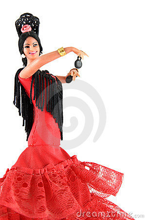 Free Female Doll From Spain Dancing Royalty Free Stock Photography - 2998297
