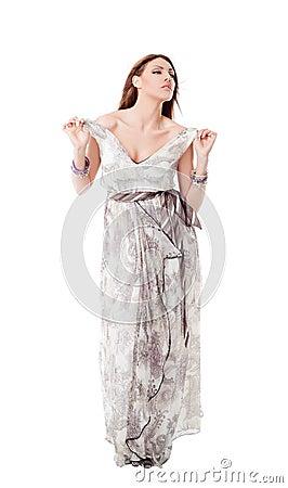 Female dress undressing