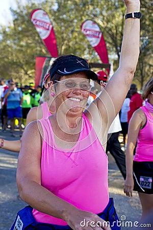Female endurance walk athletes starting race Editorial Photo