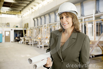 Female Engineer in Factory