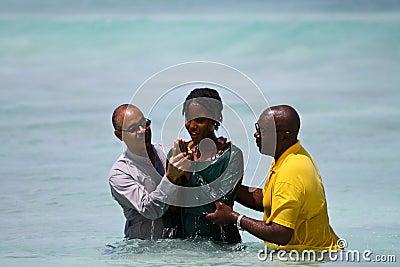 Female Evangelist Baptism Editorial Stock Photo