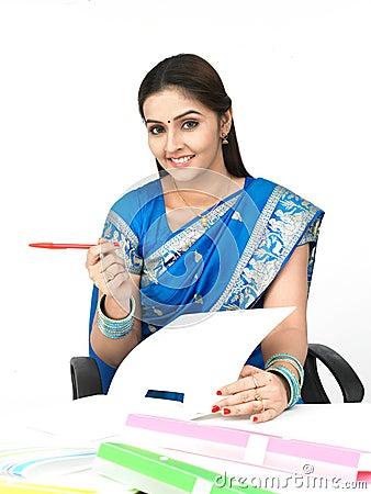 Female executive of indian origin