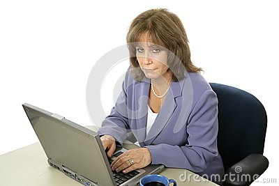 Female Executive Working Late