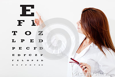 Female eye doctor