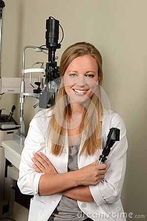 Female Eye Doctor Smiling