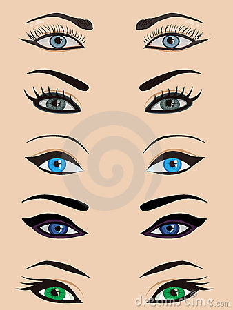 female eyes set