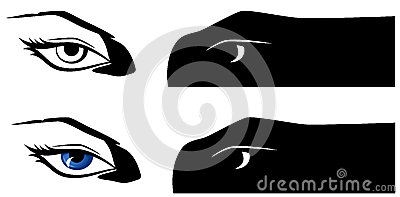Female eyes vector