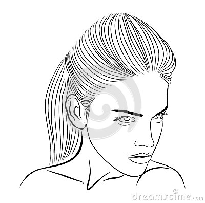 Female face sketch
