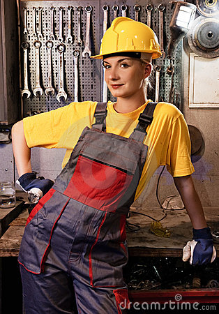 Female Factory Worker Royalty Free Stock Photo Image