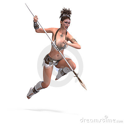 Female fantasy barbarian