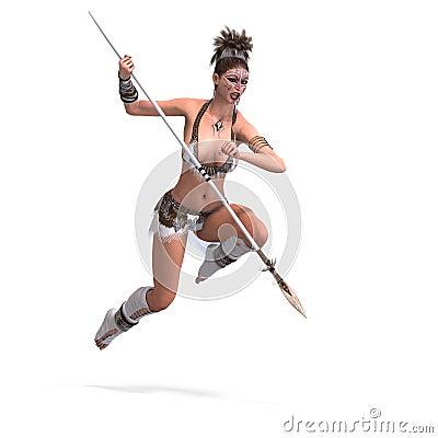 Female fantasy barbarian