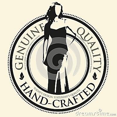 Female fashion vector label
