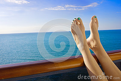 Relaxing onboard a Cruise Ship