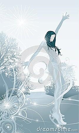 Free Female Figure Skater Performance Stock Images - 3563194
