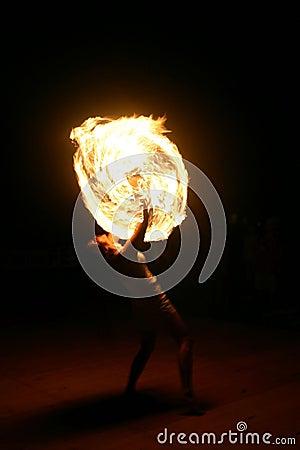 Free Female Fire Juggler Stock Photos - 234073