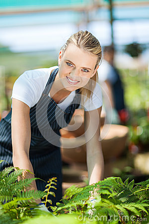 Female florist working