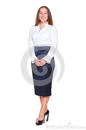 Female in formal clothes