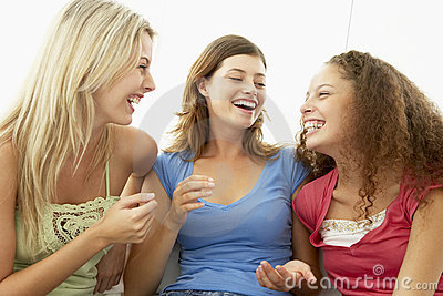 Female Friends Laughing Together