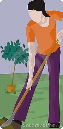 Female Gardener Illustration