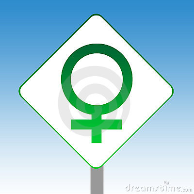 Female gender symbol sign