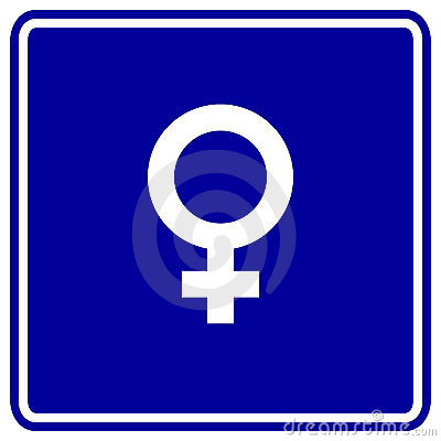 Female gender symbol vector sign