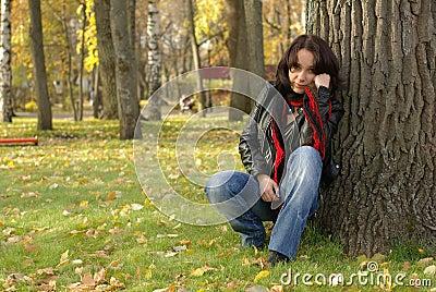 Female on grass