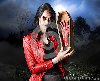 Female Grave Robber Stealing Limbs And Body Parts Stock Photography - Image 30462342