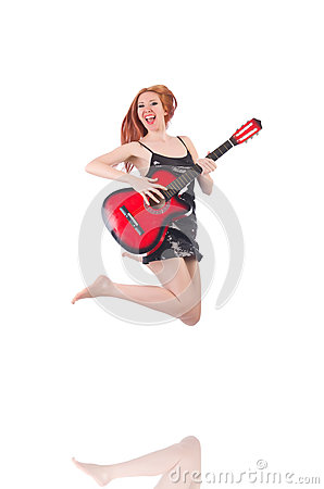 Female guitar performer