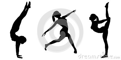 Female Gymnast Silhouettes - 2