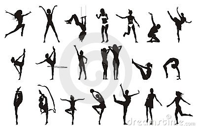 Female Gymnastic Pose Drawings