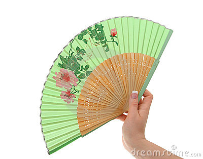 Female hand with decorated fan #3