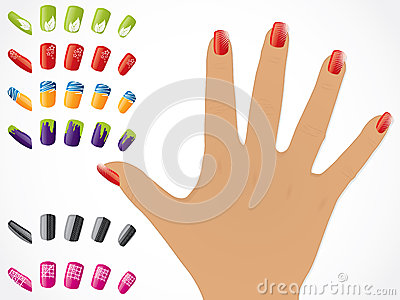 Female hand with painted nails