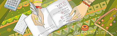 Numerology Arithmancy Hand Banner