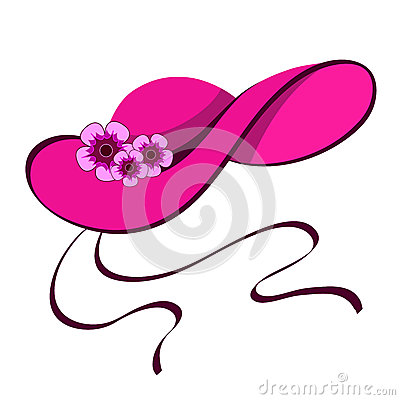 Female hat with flowers